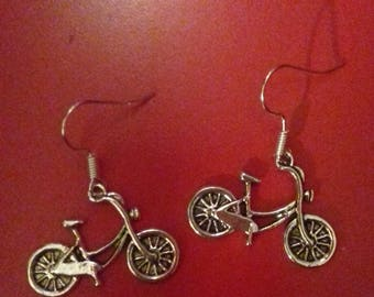 Bicycle earrings. Cycle earrings. Cyclist earrings. Jewellery for a cyclist. Olympics earrings. Sporty person. Country lover. Gift. Friend.