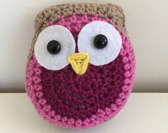 Crochet pink owl