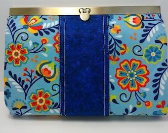 Clutch, Wallet, Antique Brass Closure Wallet, Credit Card Holder