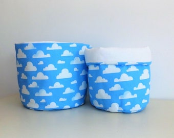 """Clouds"" baby storage baskets"