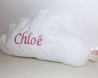 Decorative cloud white personalized baby