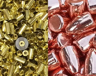 Berry's 115gr RN Projectile Tips and Processed Brass in one package!
