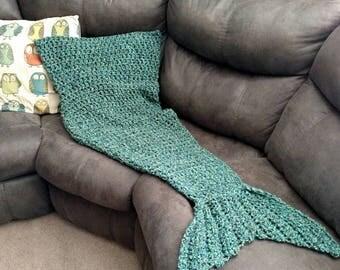 Adult Mermaid Tail Blanket. Adult Mermaid Prop. Adult Blanket. Mermaid Tail