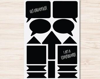 Chalkboard Label Sheet 5   Fancy Mason Jar Wedding Party Gift Tags Kitchen Storage Jar   Chalkboard Label Sticker Sheet