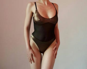 Gianfranco FERRE Sheer Body With Bronze Color Details
