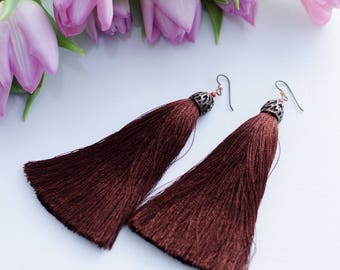Tassel Earrings Earrings Long Earrings Swarowski Earrings