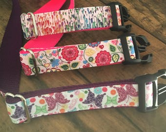 Designer Dog Collar| Small Dog Collars | Printed Dog Collars | Festive Dog Collars | Hand Sewn Dog Collars | Sew Fetch Dog Collars |