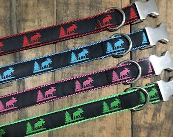 Maine Moose Collar, Sew Fetch Dog Collar
