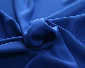 305141-Crepe marocaine Natural Silk 100%, width 130/140 cm, made in Italy, dry cleaning, weight 215 gr