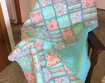 Beautiful soft flannel rag quilt!