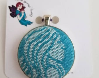 Wrap Scrap Jewelry - Large Pendant - Tula - Naida Pacific - Wrap Scrap - Mermaid - Babywearing - Turquoise