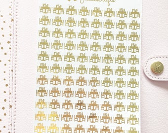 Foil Dinner Table/Restaurant Stickers | Planner Stickers