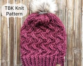 The Manitou Beanie Pattern-Chunky Knit Hat Pattern, Four sizes