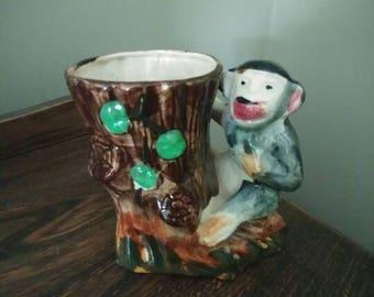 Vintage Monkey Planter