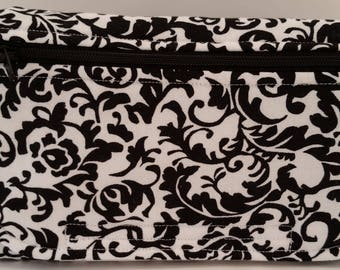 Black Ornate Print Fanny Pack