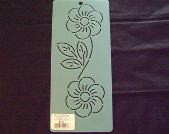 Traditional Quilting Stencil 3 in. by 8 in. Grandmother's Rose Border