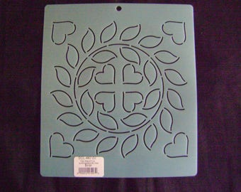 Sashiko Japanese/Traditional Quilting Embroidery Stencil 7 in. Bridal Wreath Motif Block/Quilting
