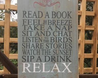 Deck rules wood sign,Patio rules sign,Wood Sign,Porch Sign,Outdoor Sign,front porch Decor,Patio Decor,outdoor living,outdoor,shabby chic