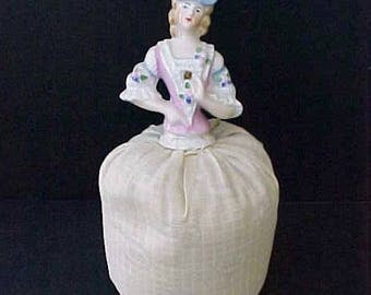 Lovely Antique German Pincushion or Half Doll with Pincushion