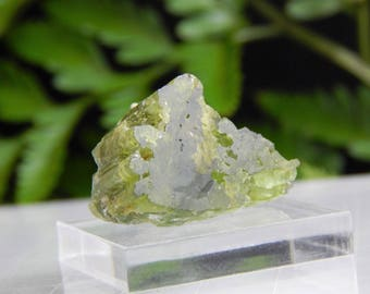 Gem Green Maine Tourmaline Crystal var Elbaite with Flat Top Termination, Authentic Mt Mica Mineral Specimen Perfect for Collectible Display