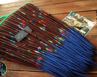 "Set of wool dreads ""Starry Night by Vincent van Gogh"""