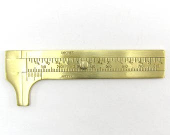 Jewelers brass caliper sliding gauge for bead 80mm 14959