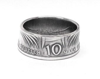 Silber 10 Deutsche Mark Münzring (Silver 10 German Mark Coin Ring)