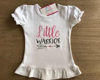 Girl-Boy Shirt / onesie Little Warrior  / CHD Warrior / Congenital Heart Defect  personalized short sleeve bodysuit or Shirt