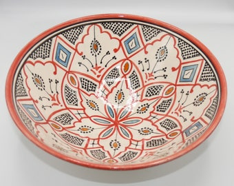 Moroccan Oriental ceramic dish bowl Fruit salad Cereal Ø 35 CM model Talia