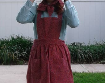 Pioneer Sun Bonnet and Pinafore Apron