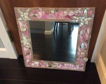 Mosaic mirror - handmade