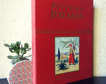 Aladdin book - old edition - classic literature stories of Aladdin and the wonderful lamp - tales of Arabian nights