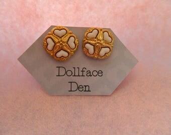 Vintage Love Button earrings