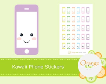 Kawaii Phone Planner Stickers, Phone Stickers, Phone Bill Stickers, Cellphone Stickers, Planner Stickers, Phone Call Reminder Stickers