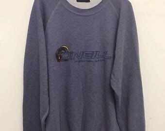 20% OFF Oneill Sweatshirt Rare Vintage Oneill Sweater Surfing Sweater Surf Shirt Skate Oneill Pullover Hip hop Streetwear