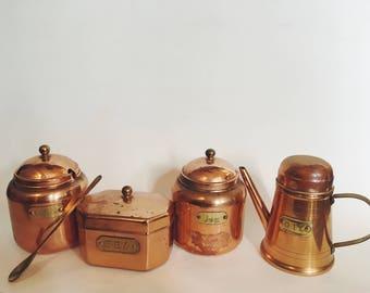 Copper Kitchen Set