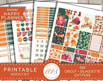 Happy Planner Fall Stickers, Fall Happy Planner Printables, September Planner Kit, Autumn Planner Kit, Happy Planner Weekly Kit, HP132