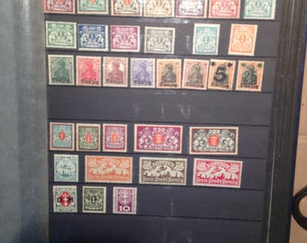 Collection Page of 33 German Danzig Stamps