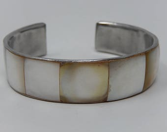 Old Rush, copper bracelet covered with Mother of Pearl, Free Shipping!