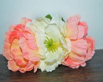 Peachy pink crown
