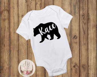 Custom vinyl decals and personalized gifts by sophiebreannadesigns personalized baby bear onesie baby boy clothes baby girl clothes custom baby gift negle Gallery