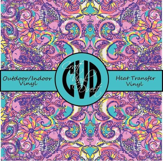 Beautiful Patterned Vinyl // Patterned / Printed Vinyl // Outdoor and Heat Transfer Vinyl // Pattern 114