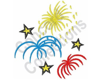 Fireworks - Machine Embroidery Design