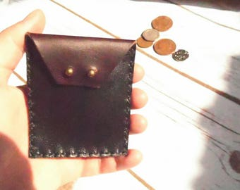 leather coin purse, coin purse, leather pouch, leather coin pouch, leather change purse, leather coin wallet, horween purse, 3rd anniversary