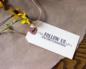 Follow Us Stamp - Customizable - Social Media Stamp