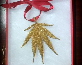 Gold Sparkle Christmas Ornament