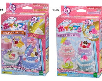 NEW Whipple Fake Sweet Jewel Cake Set or Whipple Macaroons Tower and Cake Set - Fake Desserts By Epoch
