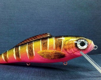 fishing lure,wooden lure,custom lure,fishing hook,personalized lure,fisherman,fishing,lure,Gifts,handmade lures,bass lures,