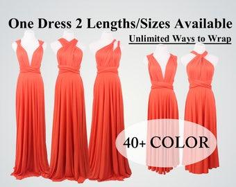 Rust Burnt Orange Bridesmaid Dress infinity dress bridesmaid convertible dress wrap dress infinity dress short infinity dress