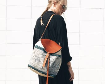 Luna Indigo Batik Backpack / Bucket Bag